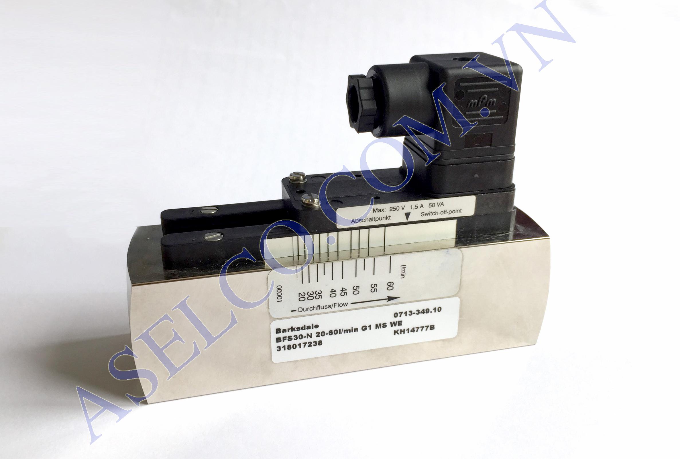 Công tắc lưu lượng Barksdale-BFS30-N 20-60l/min