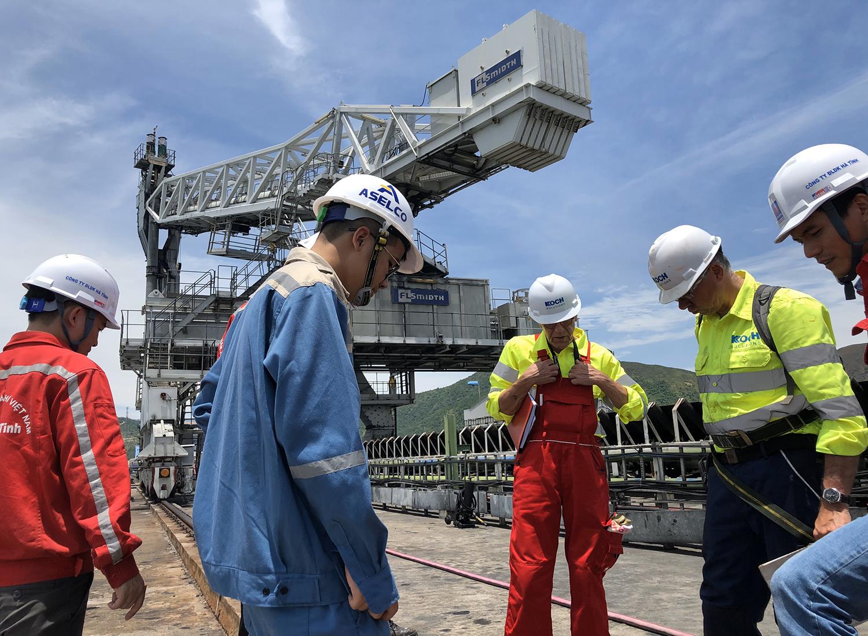 Dự án kiểm tra, khảo sát hệ thống máy hút than, máy đánh đống, phá đống tại Nhà máy nhiệt điện Vũng Áng tháng 7/2019
